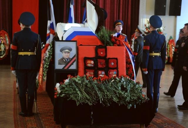 Павел Грачев, похороны: Фото