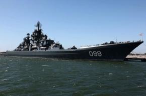 На атомном крейсере «Петр Великий» разбился палубный вертолет