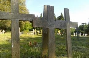 Псих повалил девять крестов на кладбище в Приозерске