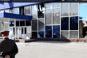 Власти назвали причину обрушения крыши автовокзала в Белово (кадры)