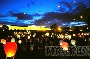 В парке 300-летия Петербурга запустят тысячи небесных фонариков