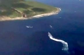 У спорных островов Сенкаку Япония и Китай устроили морской бой на водометах