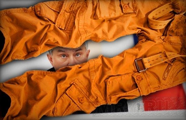 Полтавченко получил в подарок оранжевые штаны, как у дворника (смотреть)