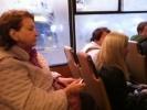 Собчак в троллейбусе: Фоторепортаж