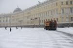 Фоторепортаж: «первый снегопад в Петербурге»