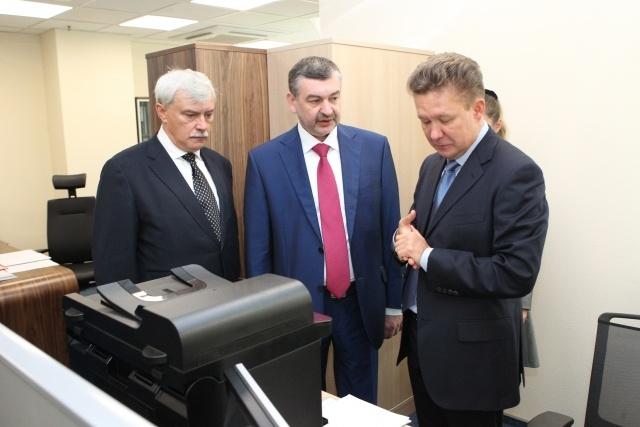 Полтавченко и Миллер, офис Газпрома, 5 октября 2012: Фото