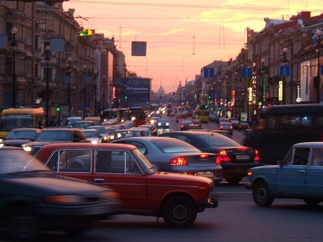 Транспорт Петербург пробки траффик: Фото