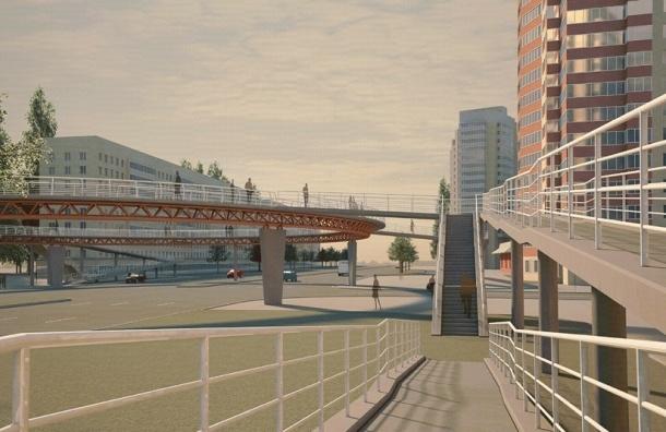 В Петербурге хотят строить пешеходные переходы с лифтами и видеокамерами