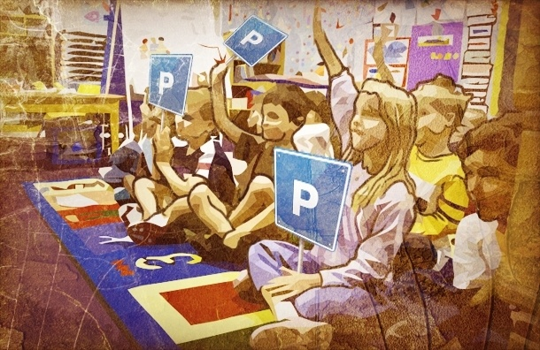 Детский сад на Богатырском превратили в парковку