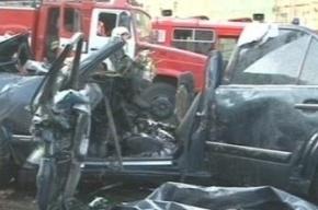 Авария на МКАДе в районе Рублевки: столкнулись семь машин, двое погибших