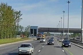 ДТП на Пулковском шоссе: фура снесла три метра надземного перехода