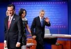 Фоторепортаж: «Митт Ромни - Барак Обама: теледебаты»