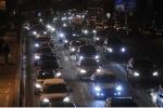 Фоторепортаж: «Пробки в Петербурге - зима 2012»