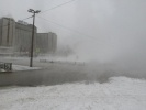 Фоторепортаж: «Прорыв трубы, кипяток, разлив воды, улица Кораблестроителей, 30 ноября 2012»