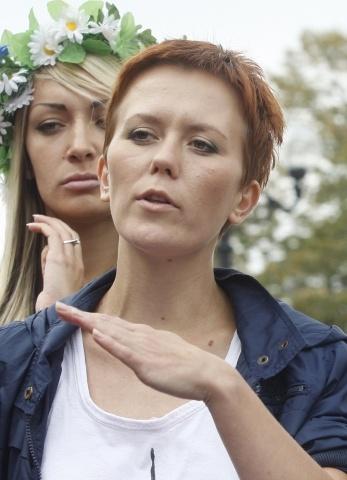 Лидер Femen Анна Гуцол: Фото
