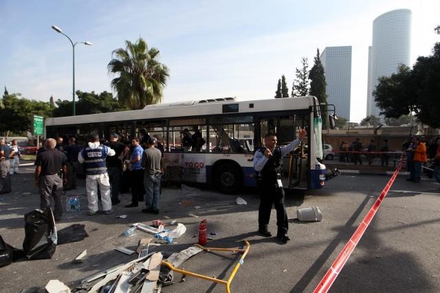 Тель-Авив, взрыв автобуса, 21 ноября 2012: Фото