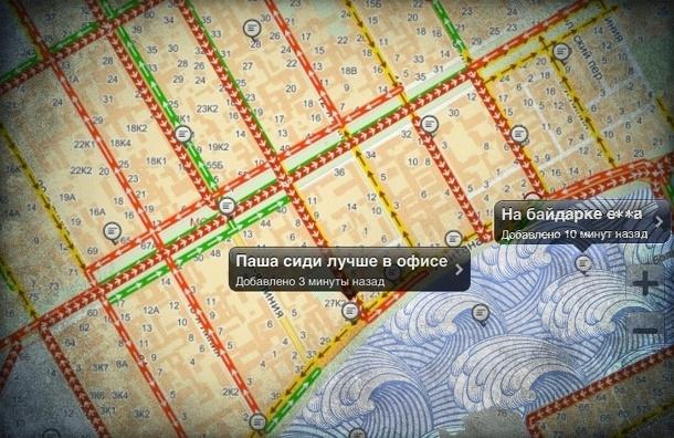 Петербуржцы пишут в пробках про соседей, футбол и ругаются матом