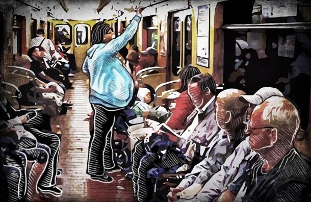 Как беременная Катя проверяла, уступают ли место в петербургском метро