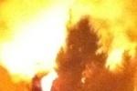 Взрыв в Щелково 3 ноября 2012: пожар на газопроводе тушили всю ночь (кадры)