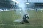Болельщики «Зенита» прервали матч с «Динамо»