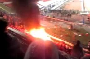 Болельщики подожгли стадион во время матча «Зенит» - «Волга»