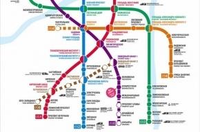В Петербурге обнародована новая схема метро