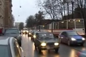 В Петербурге образовалась многокилометровая пробка