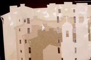 Петербургские брандмауэры разрисуют птицами и колоннами