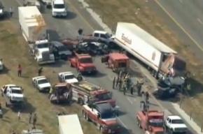 140 машин попали в ДТП в Техасе