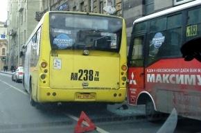 На Большом проспекте П.С. столкнулись два автобуса