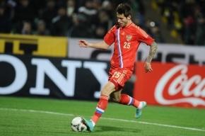 Федор Смолов в дебютном матче за сборную забил первый гол