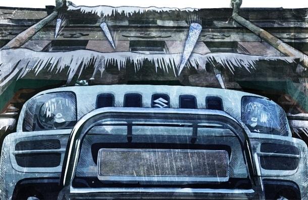 Сбиваемые сосульки в Петербурге корежат автомобили: прошлогодний опыт ничему не научил