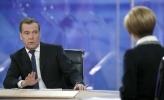 Фоторепортаж: «Интервью Д.Медведева пяти российским телеканалам»