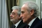 Фоторепортаж: «Встреча Путина с Пласидо Доминго и Хосе Каррерасом»
