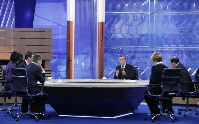 Интервью Д.Медведева пяти российским телеканалам: Фото