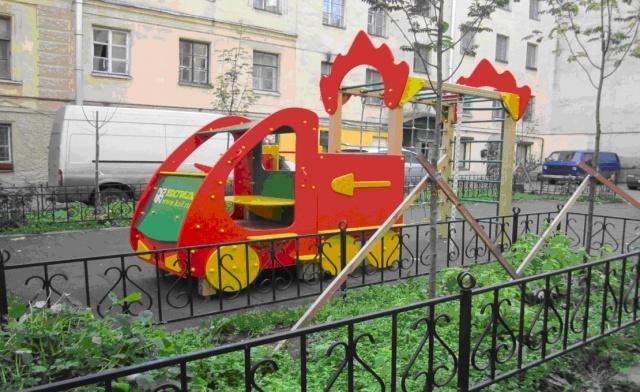 Детские площадки МЧС: Фото