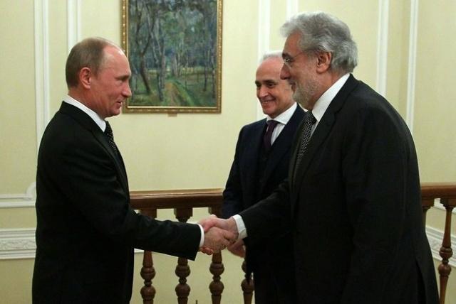 Встреча Путина с Пласидо Доминго и Хосе Каррерасом: Фото