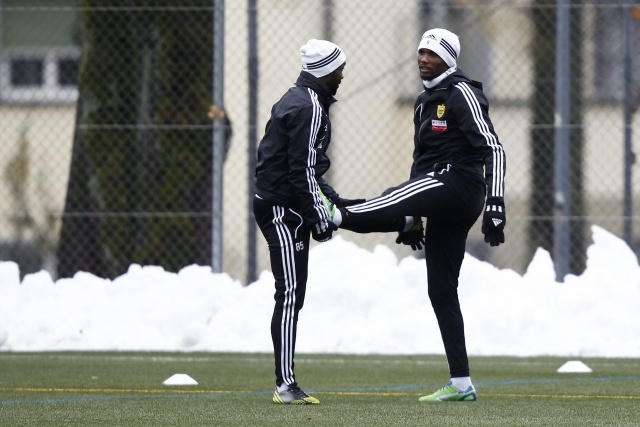 Тренировка Анжи перед матчем с Янг Бойз в Берне 5 декабря: Фото