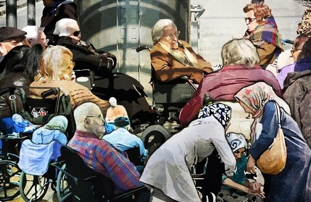 Очередь за бесплатными памперсами или история о том, как унижают инвалидов в Петербурге