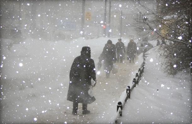 МЧС предупреждает: В Петербурге и Ленобласти снегопад, метель и сильный ветер