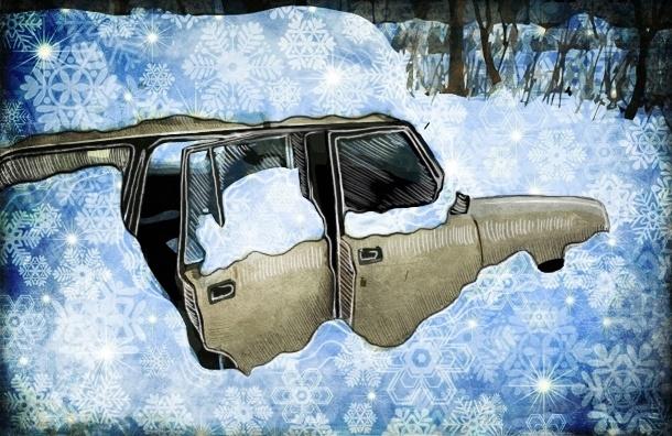 Петербург врос в снег и встал в пробку: хорошо чистят только Крестовский и Васильевский