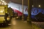 Во «Внуково» самолет Ту-204 выкатился на Киевское шоссе и загорелся