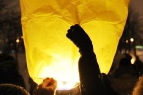 Новогодний флешмоб: в Петербурге запустили сотни небесных фонариков (Кадры)
