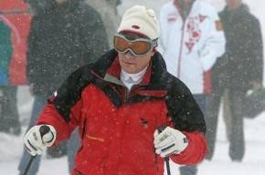 Путин будет обучать горнолыжников: у него прекрасная маятниковая техника ног