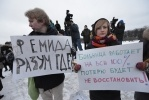 Фоторепортаж: «Пикет в защиту 31-й больницы Петербург 23 января 2013»