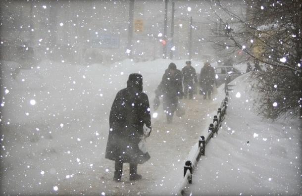 На Петербург обрушатся снегопады с сильным ветром