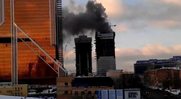 Пожар в Москва-Сити 25.01.2013 - фото: Фото