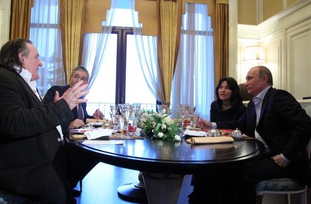 Путин и Депардье, Сочи, 6 января 2013: Фото