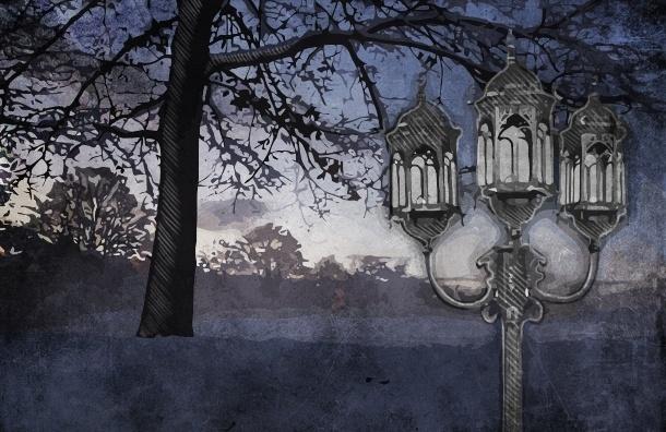 В темных аллеях Петербурга поставили фонари, а свет так и не дали