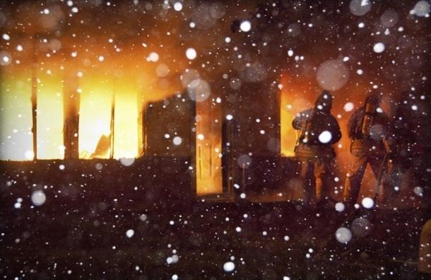 Троих голых петербуржцев вынесли из горящей сауны